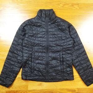 North Face Black Nylon Full Zip Nano Puff Jacket